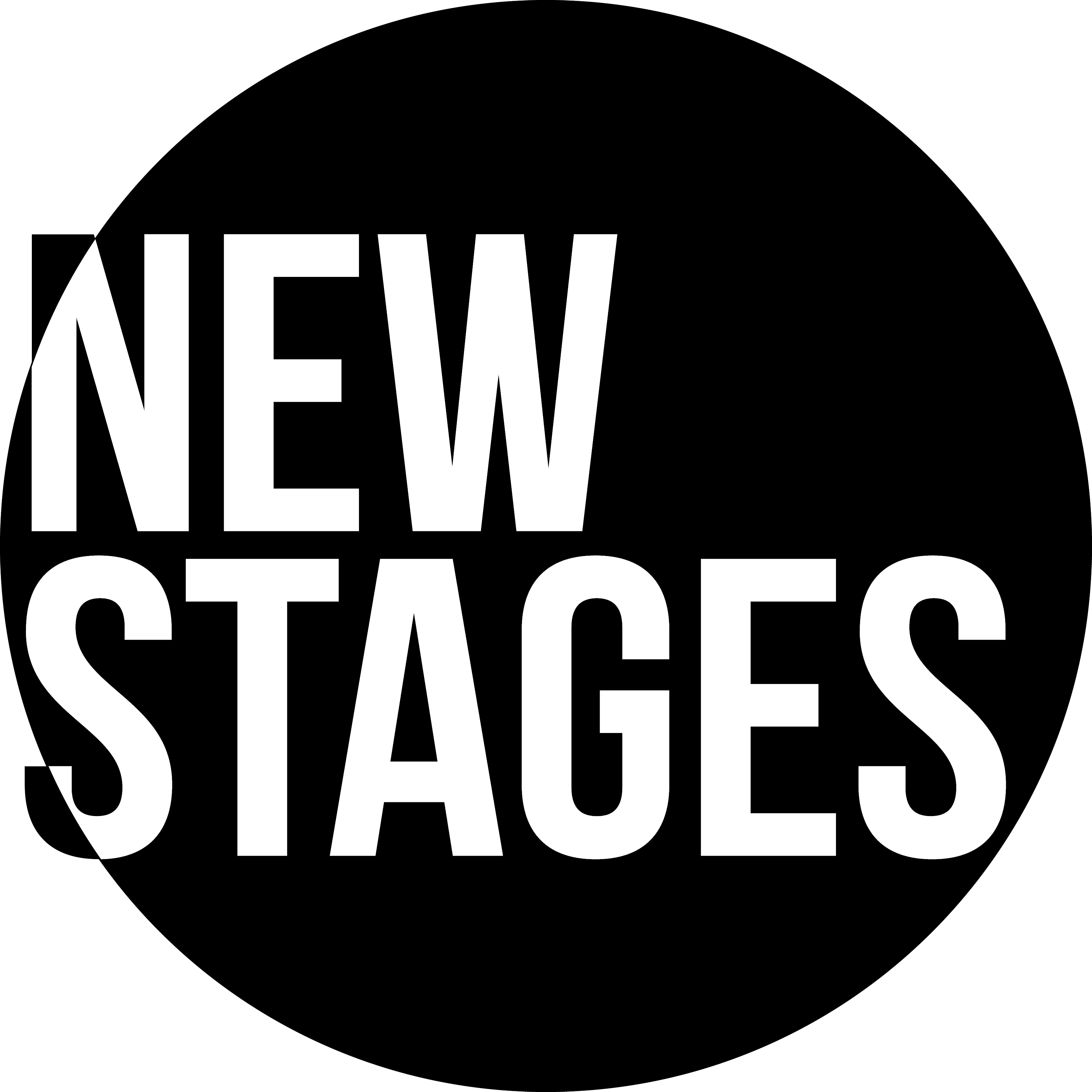 New Stages logo black Vector copy transparent text